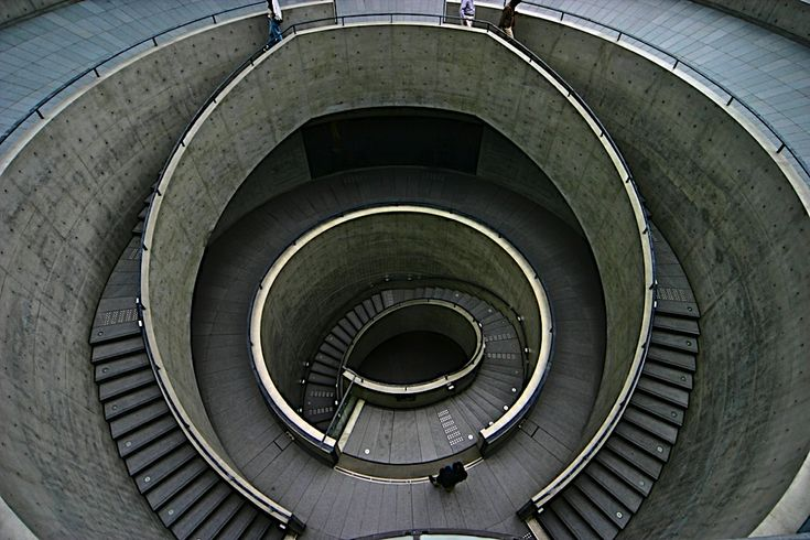 Stairs of Hyogo Prefectural Museum of Art...
