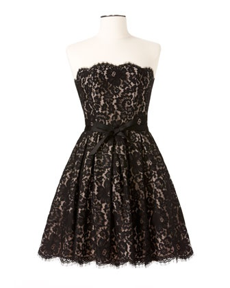 NM + Target Fit-and-Flare Lace Dress by Robert Rodriguez at Last Call by Neiman Marcus.