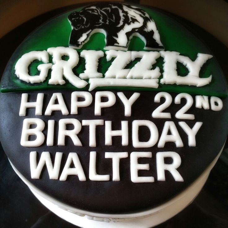 Cake I created to look like a can of Grizzly Chewing tobacco.
