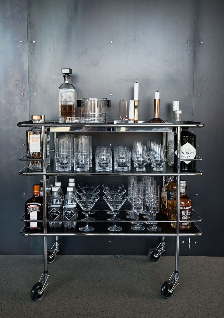 Beautiful bar cart.
