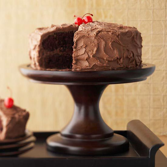 Chocolate-Lover's Cake- the name says it all. More of our best chocolate cake recipes: http://www.bhg.com/recipes/desserts/cakes/chocolate-cakes/?socsrc=bhgpin072913chocolatelovers=22