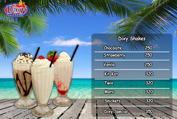 Beat The Heat With #DixyShakes. Come & Enjoy Exciting Flavours. #StrawberryShake,#ChocolateShake,#VanilaShake,#KitKat 893-D Faisal Town, Near Akbar Chowk, Lahore, Pakistan. For Free Home Delivery Call Now: 0304-1113499 Dixy Chicken,#Food,#friedChicken,#Burgers,#Pizza,#Spicy, #PeriPeriChicken,#HotDeals,#GrilledChicken,#Chicken, #Shakes,#icecream,#Grilled