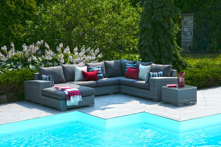 This sectional is soo comfortable and has enough room to seat 7!
