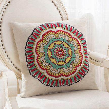 Mediterranean Style Cotton and Linen Decorative Throw Pillows
