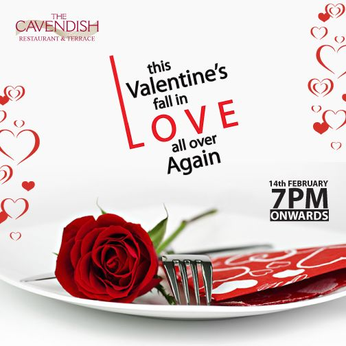 Express your love for each other this Valentine's at the Cavendish Restaurant & Terrace: Enjoy a romantic dinner of five courses for AED 330 per couple or add a bottle of French sparkling and pay AED 440 only. The menu includes seared scallop & truffle, chicken & foie gras ballotine, honey-roasted duck breast, poached sea bass, green apple & lime sorbet and red velvet roll. For more info & to book, just click on the pin!