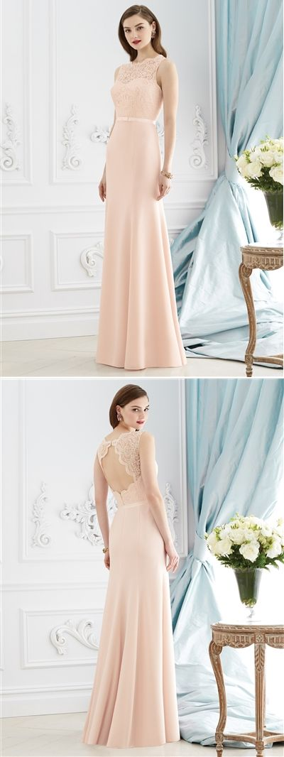 After Six Bridesmaid Dress 6734. Bridesmaid Gown, Dessy Dresses.  Romantic full length Bridesmaid dress. Beautiful lace detailing.