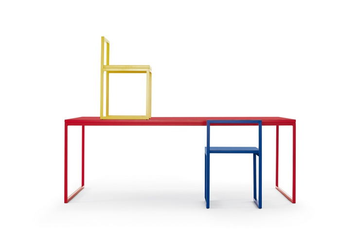 CAPPELLINI Fronzoni'64 table and chair by A.G.Fronzoni