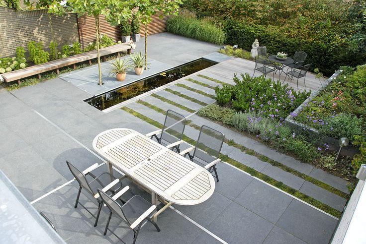 17 beste idee n over achtertuin terras ontwerpen op pinterest houten dek ontwerpen - Bank terras hout ...