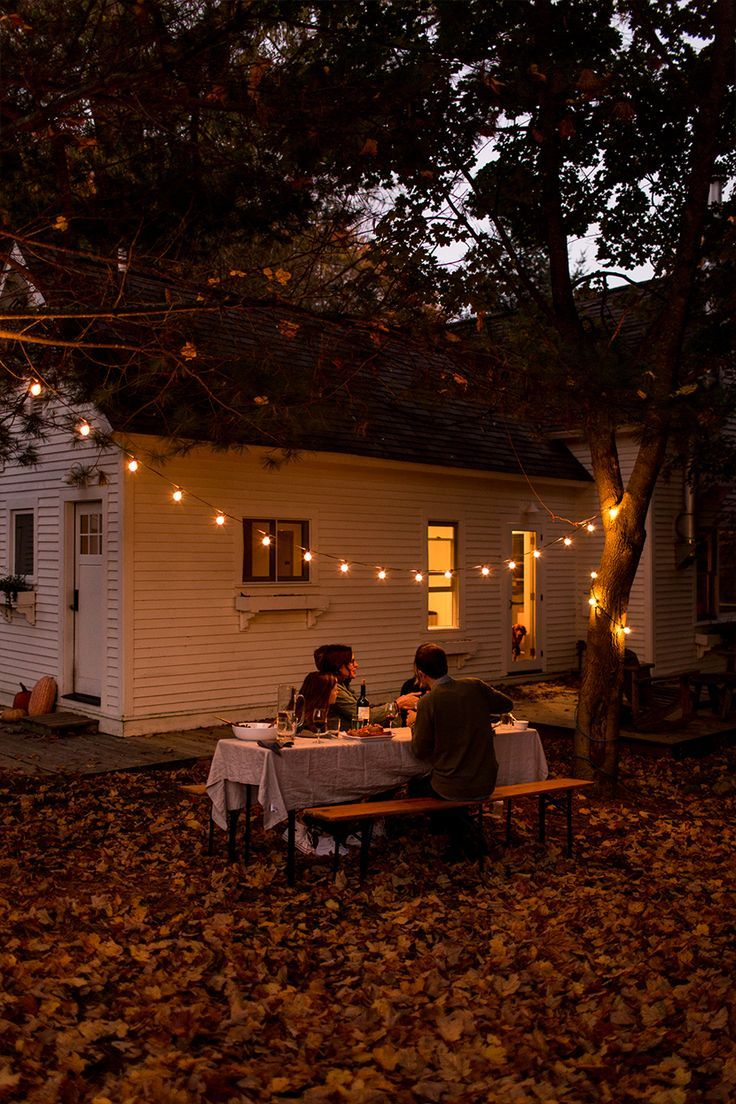enjoy a simple fall gathering with friends and family before the outdoor weather…