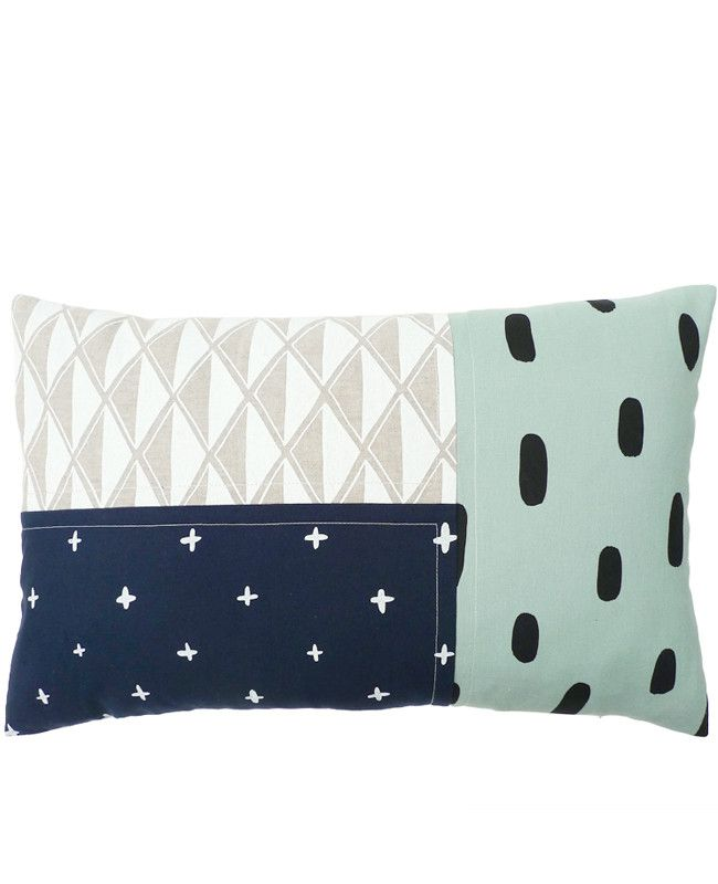 Oblong Patchwork Pillow 2