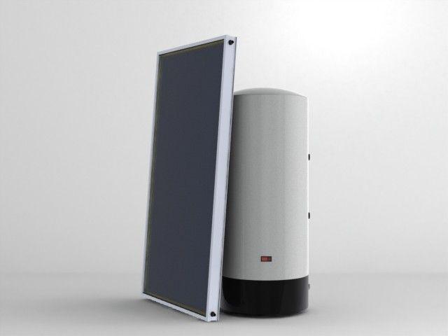 KIT Forzado AS-200V (cubierta plana), consigue agua caliente todo el año con este equipo. Se puede comprar en www.nuevasenergias-shop.es y nuevasenergias.eu
