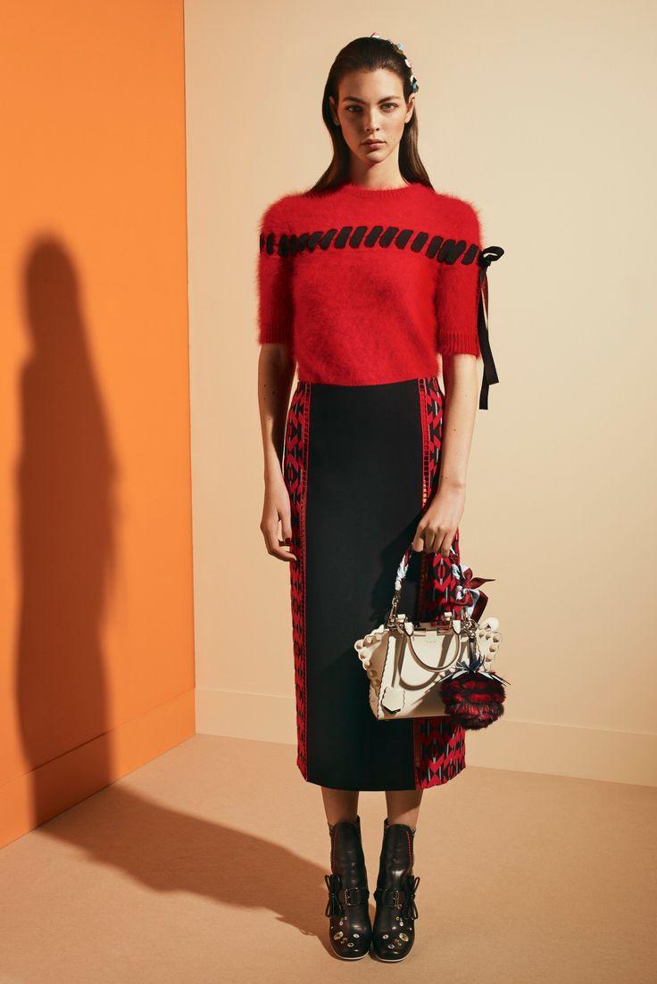 Fendi Pre-Fall 2017 collection by Silvia Venturini Fendi and Karl Lagerfeld
