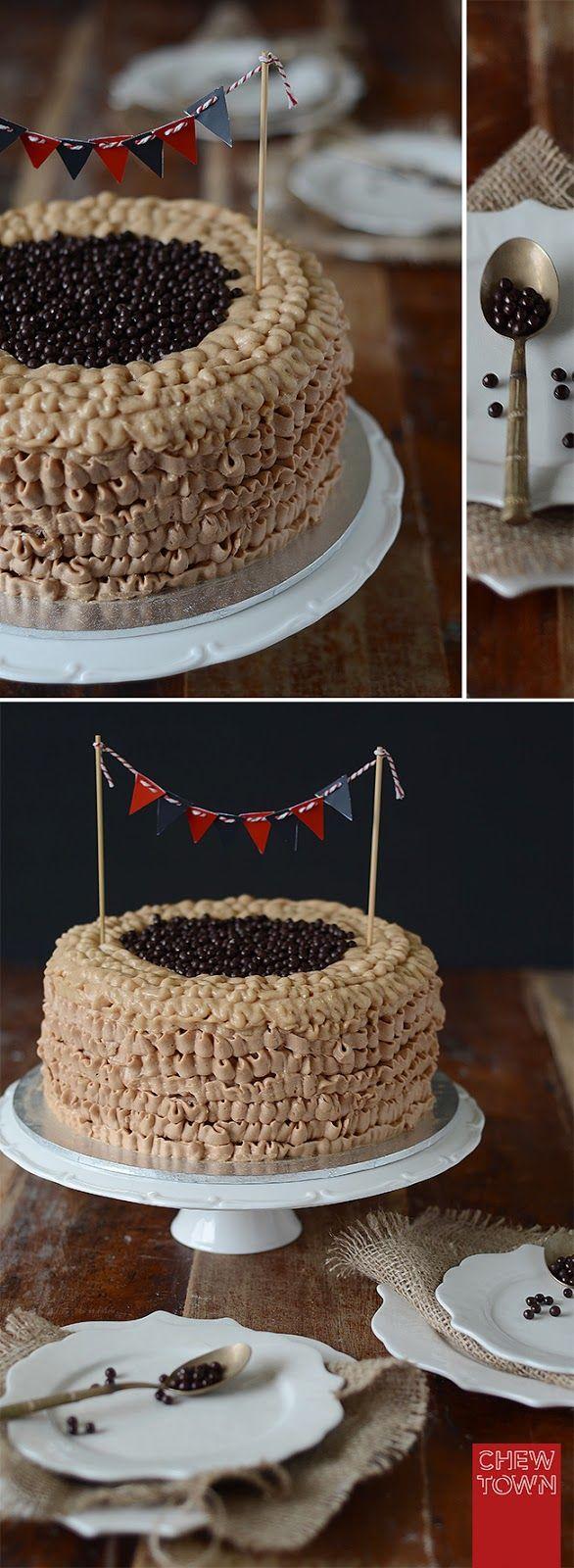 Chew Town: Valrhona Chocolate Cake with dulce de leche
