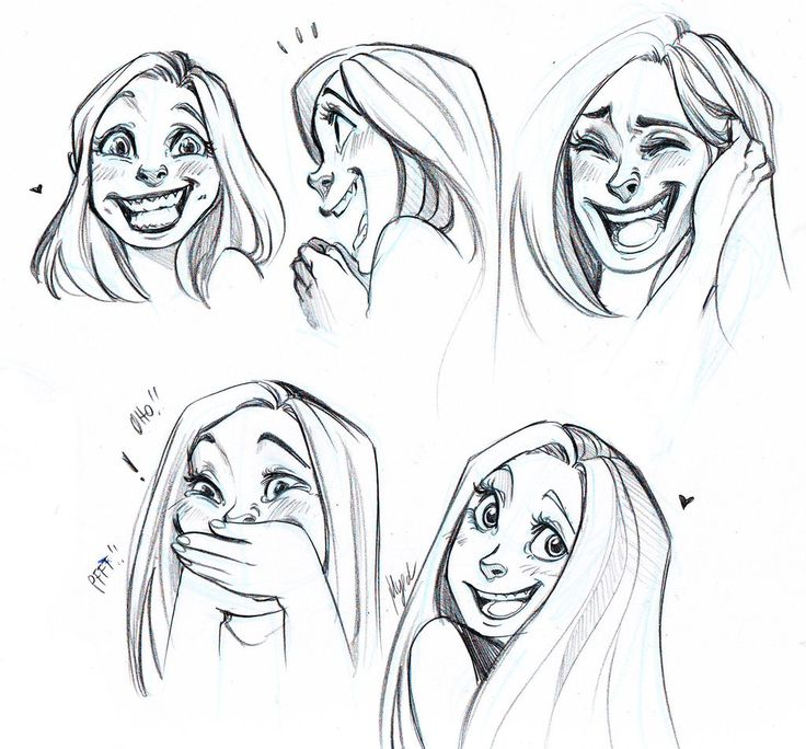Laughing and Smiling Faces by Myed89.deviantart.com on @deviantART
