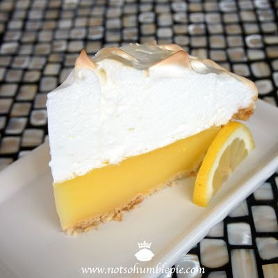 Not So Humble Pie: Lemon Meringue - Made this with gf crust.  It came out perfectly.  The meringue was weep free and didn't separate.  The filling was a perfect balance of sweet and tart.  - J