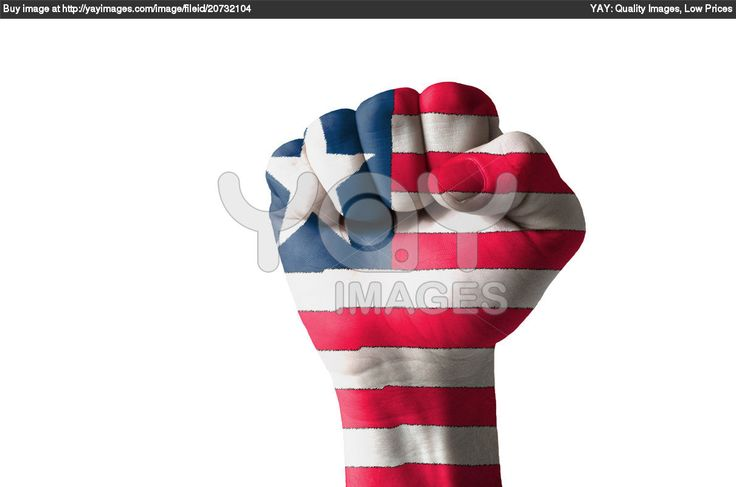 Painted like a flag | Royalty Free Image of Fist Painted In Colors Of Liberia Flag