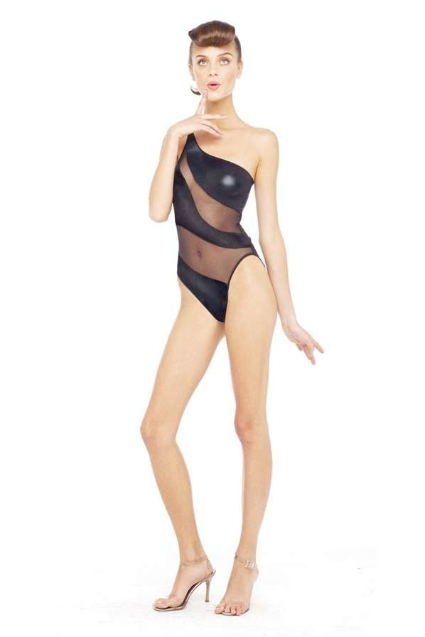 The Norma Kamali Resort 2014 Swimsuits Source Silhouettes from Pin-Ups #swimsuit trendhunter.com