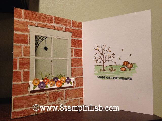 Hearth & Home Thinlits by Andrea Gideon, Hearth & Home Thinlits and Happy Scenes Stamp set.And Brick Wall TEF