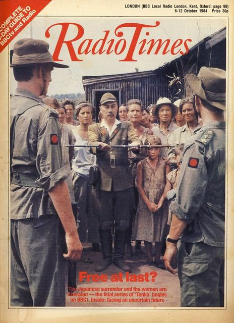 Tenko (brilliant, must-watch, WWII-set TV series) on the cover of Radio Times, 1984