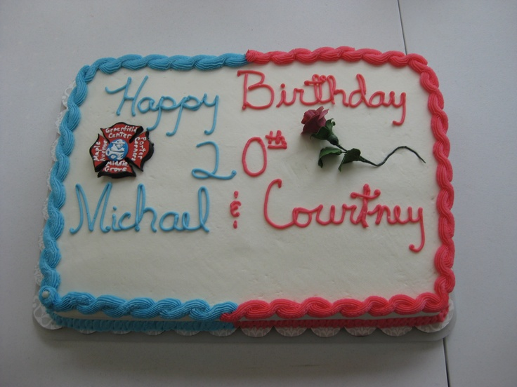 Michael and Courtney's 20th birthday cake (Thanks Mr. Potter)