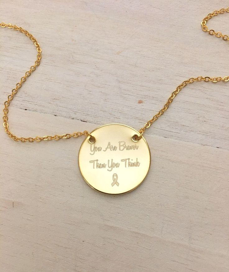 Excited to share the latest addition to my #etsy shop: Inspirational Quote Necklace, Personalized Disc Necklace, Gift, Survivors Necklace - Gift For Her