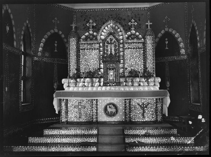 217562PD: Mother of pearl altar in Sacred Heart Church, Beagle Bay, ca. 1937 https://encore.slwa.wa.gov.au/iii/encore/record/C__Rb3416395