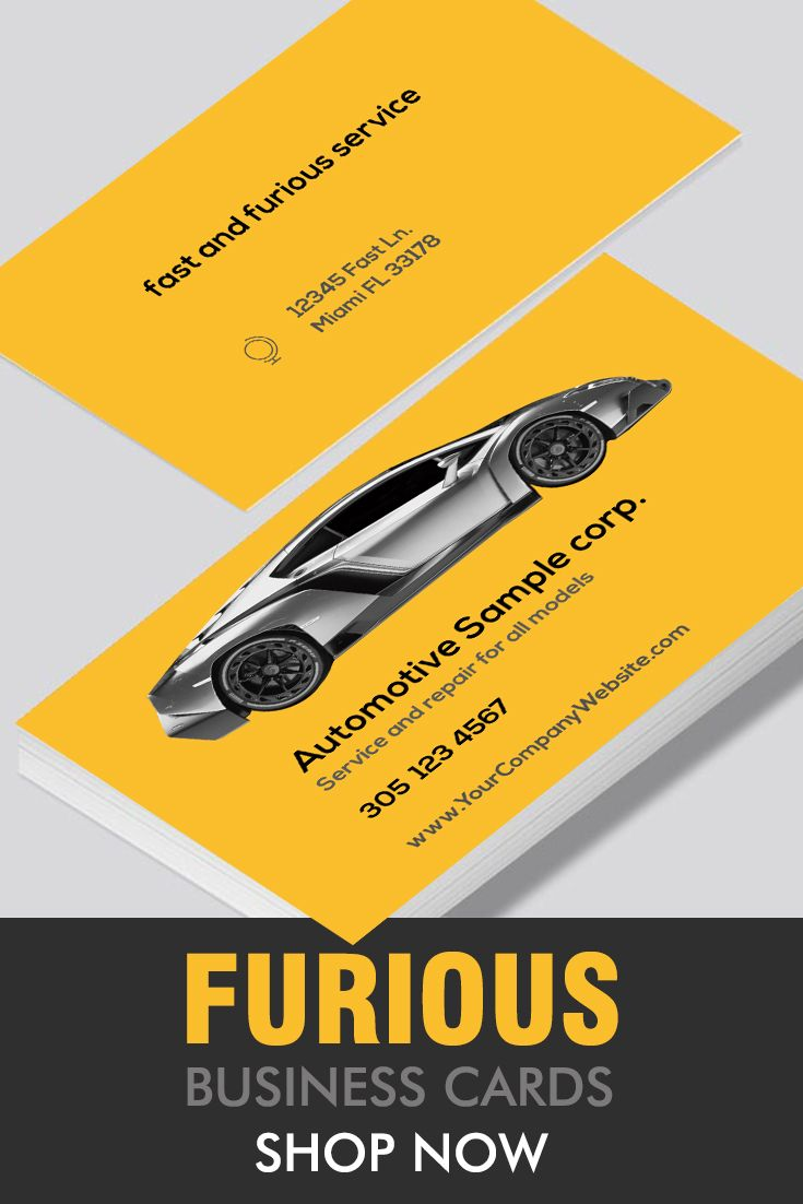 Automotive Business Cards Free