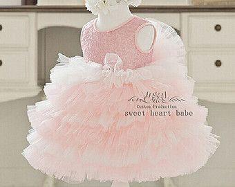 Vestido de niña de las flores, Junior Dama de honor vestidos de lentejuelas y Tul para las bodas, chicas desfile dresses.birthday partido vestido-SW