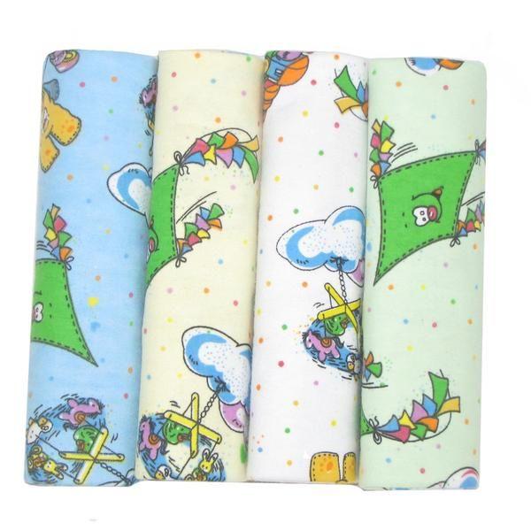 4 Pack Flannel Receiving Blanket