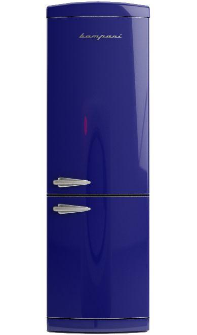 Frigo Bompani Retrò combi full no frost blue navy  #Bompani #architettura #design #arredamento #retrò #MadeInItaly #frigoriferi #Fridge #ItalianCulture #ItalianCuisine #blue #bluenavy #blu