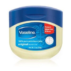 Uses for vaseline--------    Remove eye makeup--  Highlight cheekbones--  Get an even tan--  Buff away dry skin--  Tame unruly eyebrows--  Intensify eye shadow--  Protect skin from hair dye--  Seal split ends--  Get a perfect manicure--  Soften skin--  Remove rings--  Stop squeaks--  Shine shoes