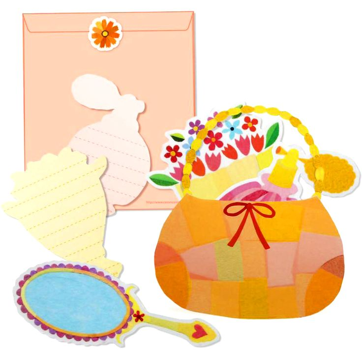 #母の日 に #ハンドバック を模した #メッセージカード です!✨(∩˃o˂∩)♡簡単無料ダウンロードで作れちゃいます!☺✂https://goo.gl/n6lTjU #手鏡・ #花束 ・ #香水瓶 などのアイテムに #メッセージ が書けるんです!