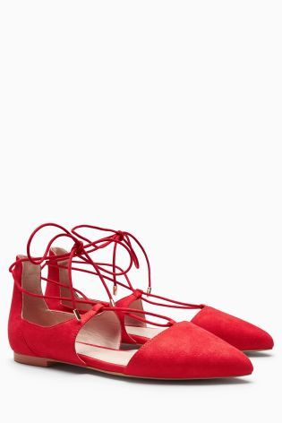 Red Ghillie Point Shoes