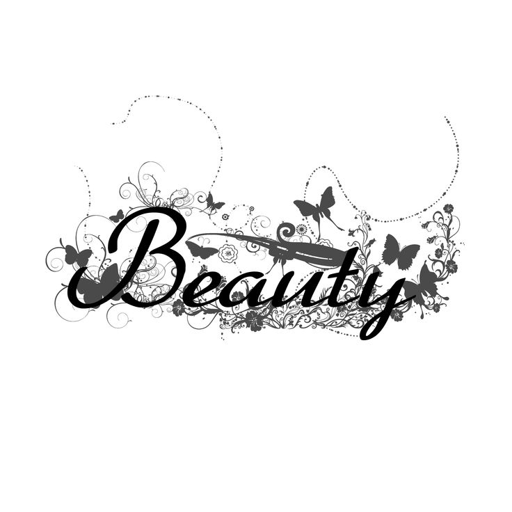 Beauty Word Art Design