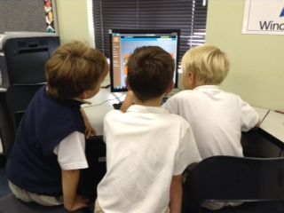 """Grade 2 pupils learned about Pirates during ICT lessons. Through a """"webquest"""" in the IT room they learned about pirate weapons, food, vocabulary and dress code. They paired reading in order to find information."""