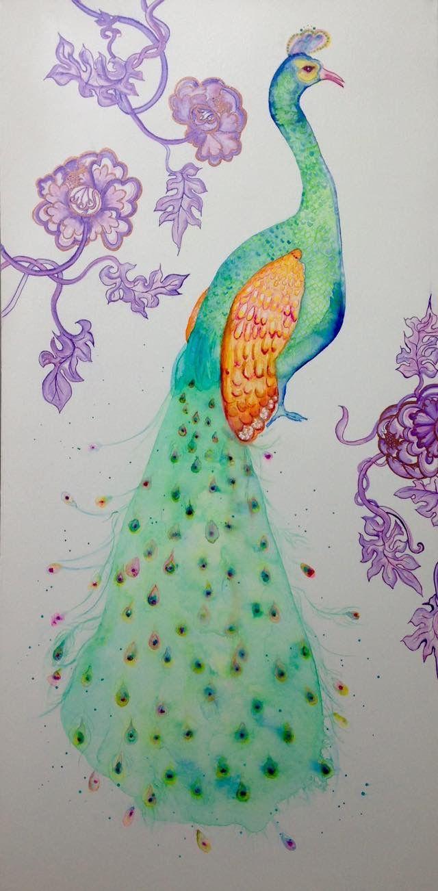 mixed medium Peacock