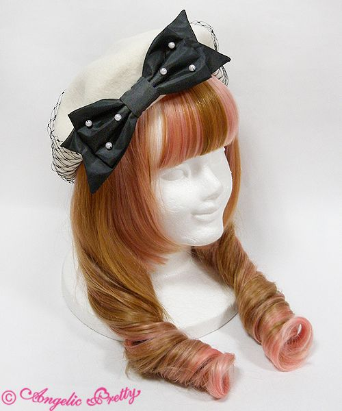 Lolibrary | Angelic Pretty - Hair accessories - Pearl Ribbon Beret