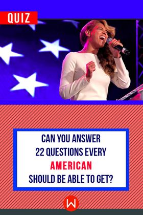 Most Americans can't answer these 22 basic questions, are smarter than the average American? Find out here! American History quiz, American culture quiz, USA knowledge quiz, USA facts. Beyonce singing the national anthem.