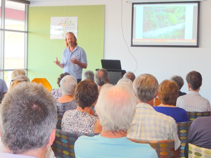 Phil Dudman, ABC Radio's Garden Guru and award winning gardening writer and broadcaster, visited the Sir Earle Page Library and Education Centre in January to talk about organic gardening. Phil discussed getting started on designing and building a garden, which herbs and vegies to grow, and signed copies of his book.