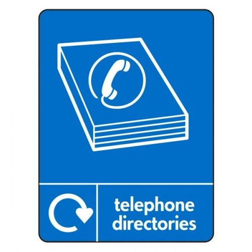 Online Telephone Directory | Telephone Directories Recycling Sign (WRAP) | Lasting Impressions ...