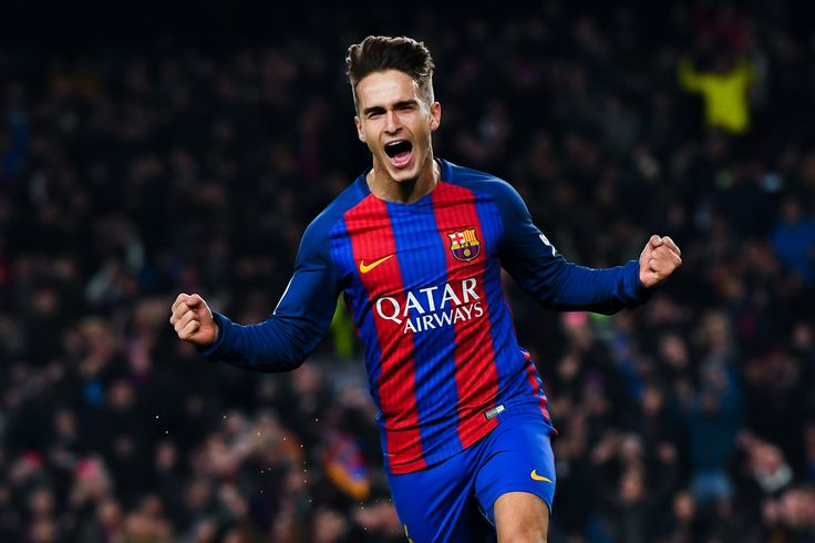 Denis Suarez of FC Barcelona celebrates after scoring his team's first goal during the Copa del Rey quarter-final second leg match between FC Barcelona and Real Sociedad at Camp Nou on January 26, 2017 in Barcelona, Catalonia.