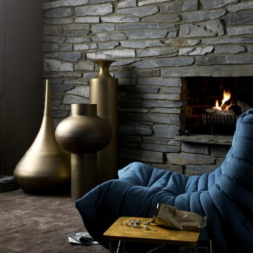 rock fireplace - cosy.
