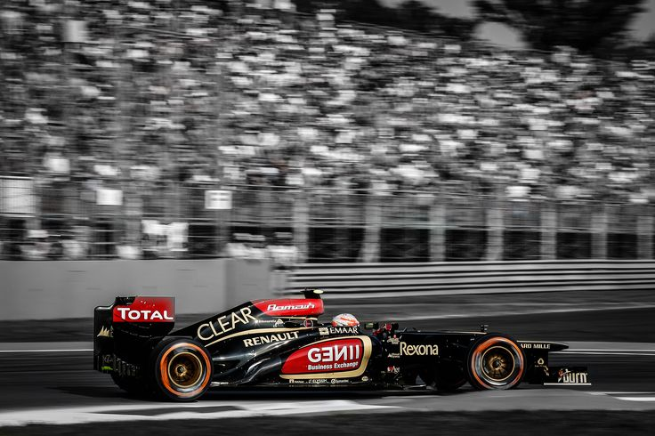 Romain out on track in the new EMAAR livery