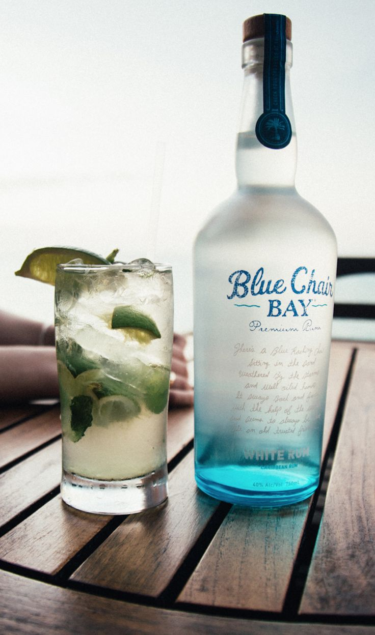 RUM JULEP // 2 oz. Blue Chair Bay® White Rum + .5 oz. simple syrup + 8 mint leaves + ginger beer // Top rum and simple syrup with ginger beer in a glass. Garnish with a lime wedge.