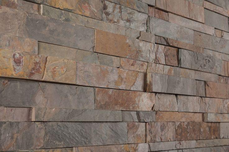 "Stone Siding - Slate Collection - California Gold / Ledge Stone 6""x24"""