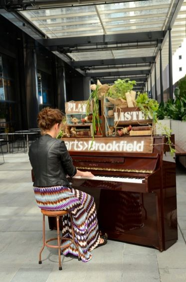 arts>Brookfield Piano Festival in Brookfield Place, Perth. As part of this we styled 3 pianos for passersby to play and enjoy.