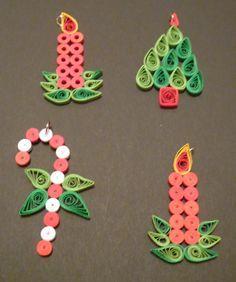 Monica's Quilling: Decoratiuni pom de iarna