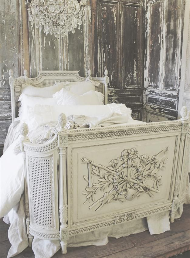 Antique French Louis XVI Bed from Full Bloom Cottage