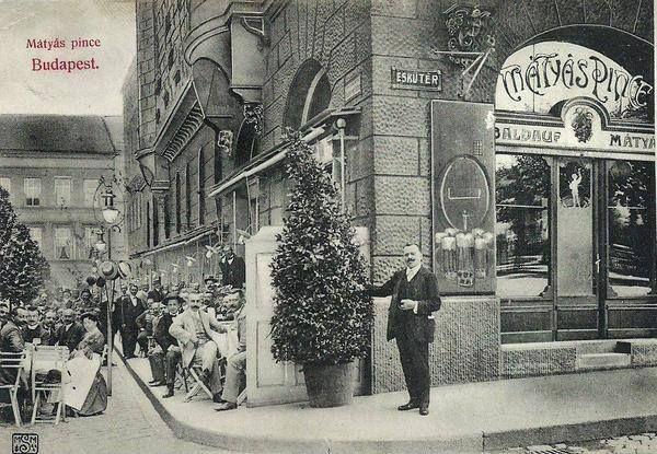 Ilyen közeg várta a Mátyás Pincét 1904-es megnyitásakor