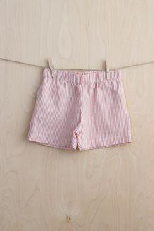 EM Tea Shorts Striped Grey/Coral Kids